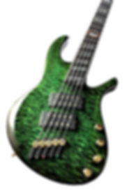 Raato Custom Guitas TerRaatoR 5-string multiscale bass guitar with delano mc5 fe humbuckers, darglass tone capsule on-board preamp, hipshot solo rail bridge