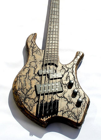 5-string multiscale electric bass - custom bass guitar - raato custom guitars - raato bass - raato basses - lichtenberg wood burning figures fractals on bass guitar - hipshot solo rails - delano pickup systems - delano mc5 FE Custom Delano PMVC5 FE Custom pickups - precision bass pickups - custom inlays on fretboard - unique bass guitar - disintegraator - bassokitara sähköbasso suomesta made in finland