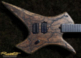 Raato Custom Guitars PenetRaatoR Standard Scale 27 inch baritone electric guitar - Lichtenberg Wood Burning Figures - Bare Knuckle Pickups Brute Force - Hipshot hardware - Custom kitara Suomesta - Made in Finland - Sähkökitara