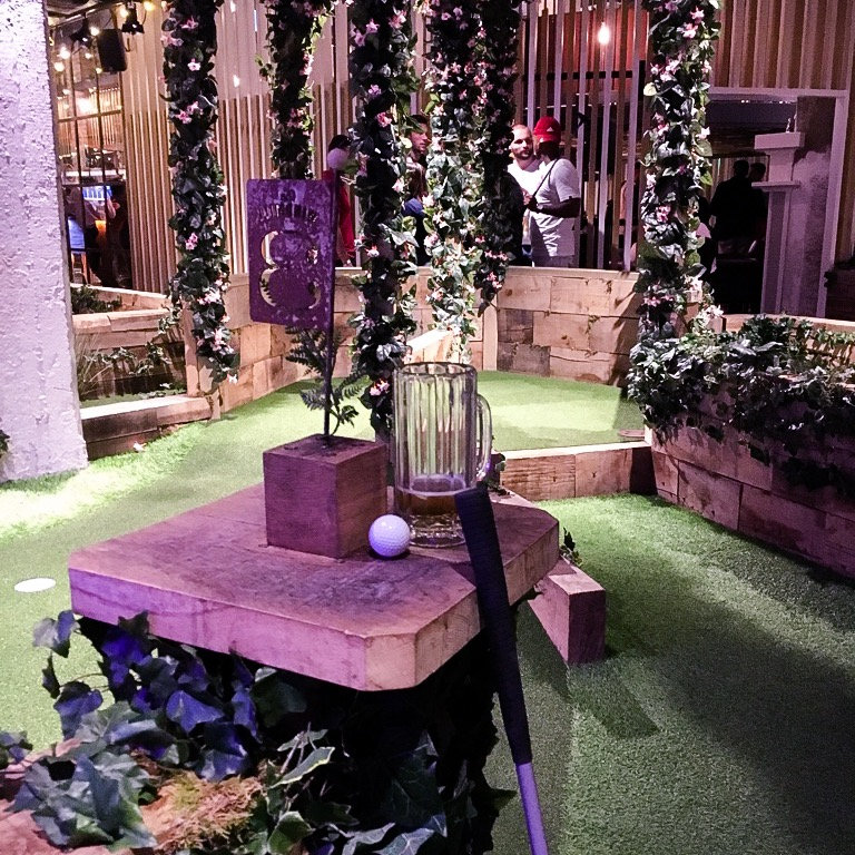 Crazy Golf Beneath The Gherkin! Swingers London, EC3
