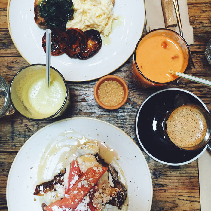 Brunch London: coffee and French Toast at Black Penny, Covent Garden
