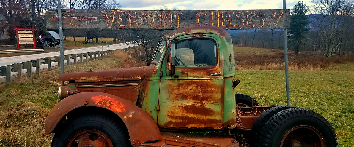 Old rusty truck Vermont