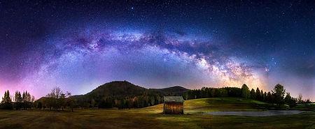 Milky way over Lake St catherine vermont