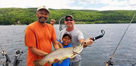 Fishing on Lake St Catherine Vermont