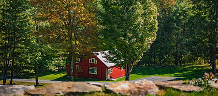 Garden cottage in the fall vermont