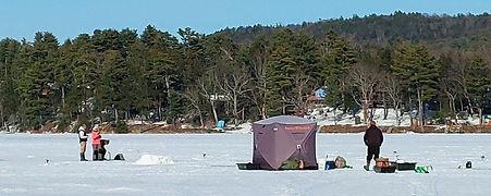 Ice Fishing on Lake