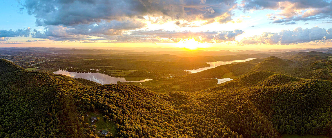 Aerial Drone Photo Pond Mountain Inn Bed and Breakfast Vermont