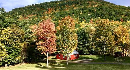 Fall Foliage surrounds Cottage Pond Moun
