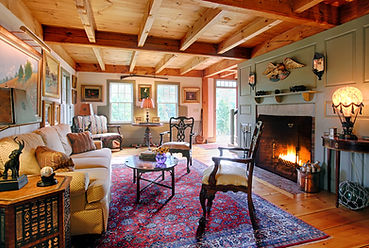 Living Room with fireplace Vermont