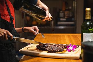 Steak at Pond Mountain Inn