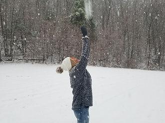 Enjoying The Snow Pond Mountain Inn