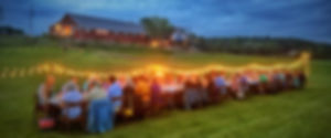 Granville vermont dancing ewe farm dining