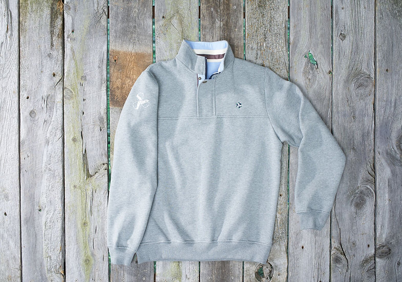 Grey Mackinac Quarter Zip