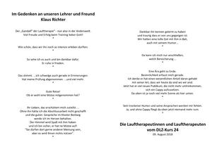 Laufinstinkt+® Therapie & Training - Abschied von Klaus Richter.