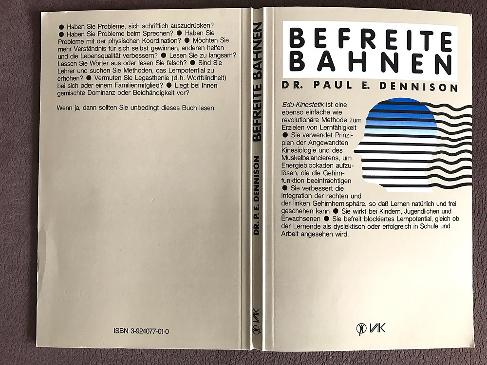 """Laufinstinkt+ Schwaben Augsburg - Buch von Paul E. Dennison """"Befreite Bahnen"""" ISBN 3-924077-01-0"""