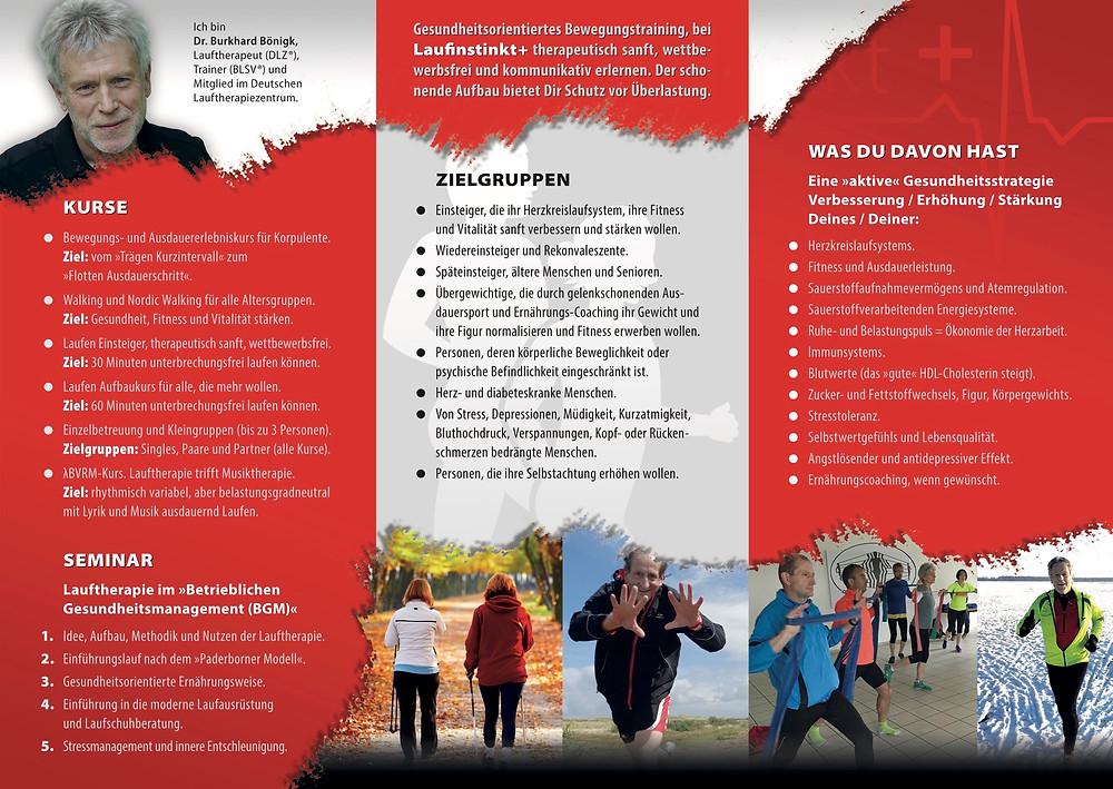 Laufinstinkt+ Schwaben Augsburg Prospekt | Information | Angebot Kurse und Seminare C