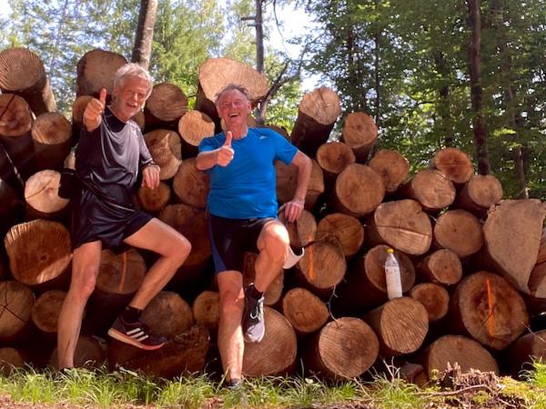 """G.H. und Trainer beim ersten """"LLL"""" für den 30km Laufinstinkt+®-Marathon."""