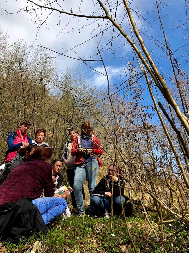 Laufinstinkt+ | Ernährungstraining | Wildkräuter im April 2018 | Diplom-Kräuterpädagogen bei der Arbeit