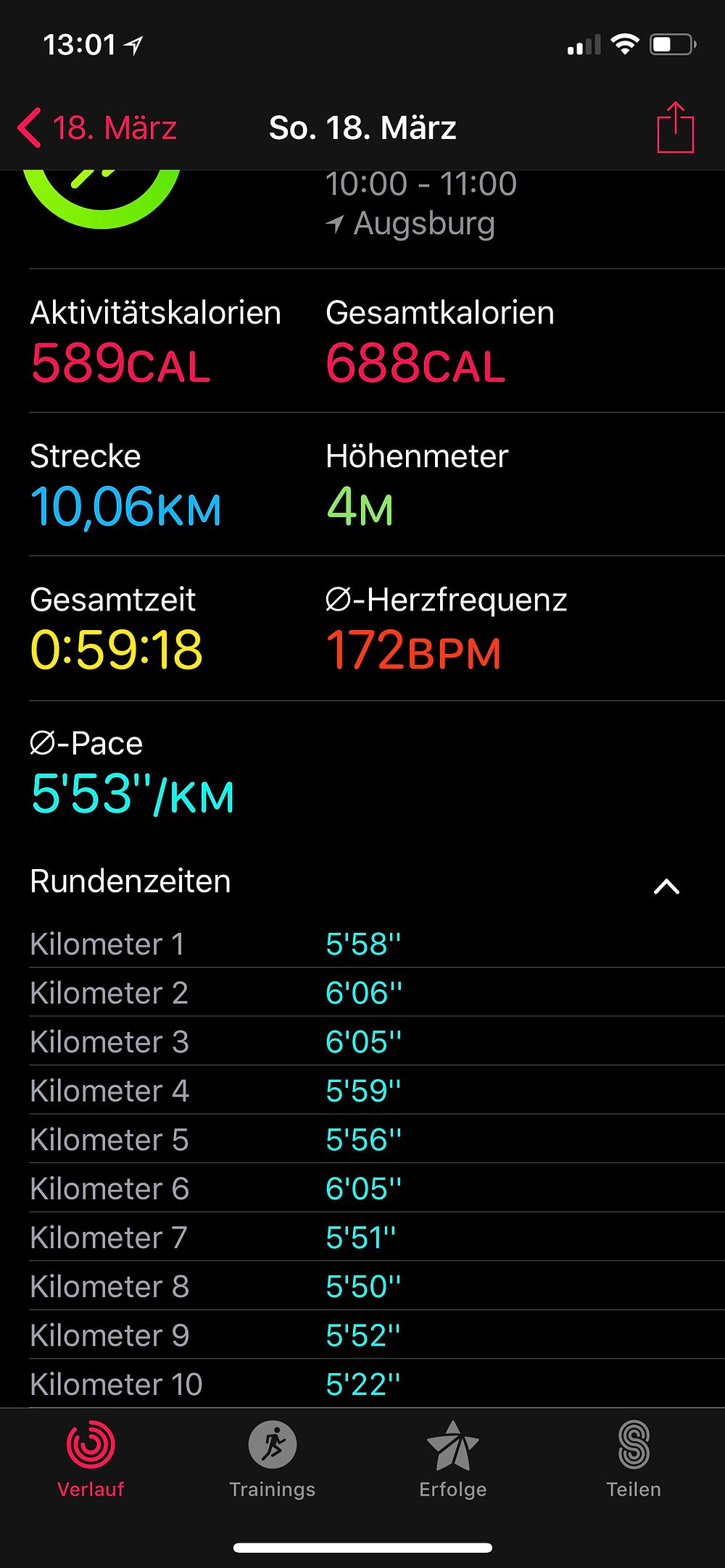 Laufinstinkt+ Augsburg - MEIN ERSTES 10KM-RENNEN - Wettkampftaufe - Bild 4
