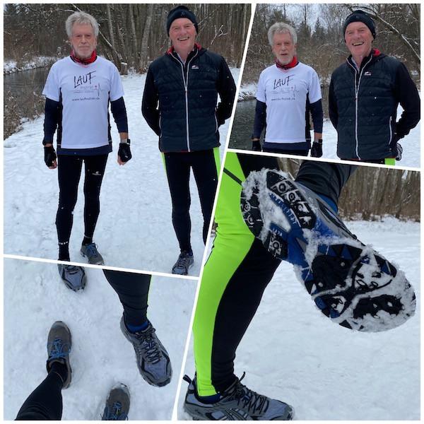 Abb.6: G.H. & B.B. beim Winterlauf-Training  | ©Laufinstinkt+®