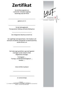 Laufinstinkt+ Zertifikat Kursabsolventen