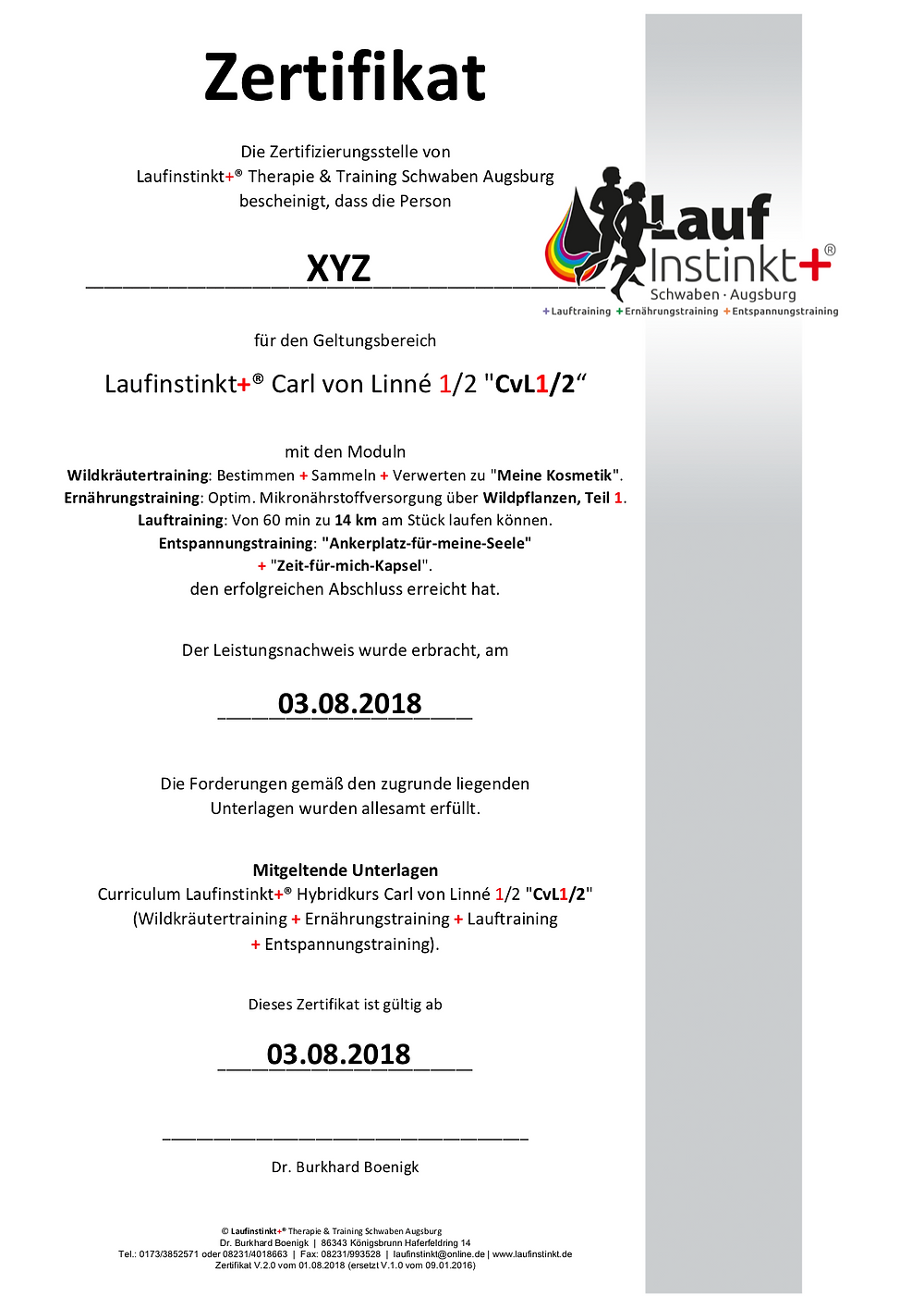 Laufinstinkt.de - Hybridkurs CvL1/2 2018 - Bild 1