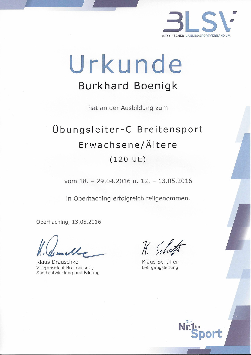 Laufinstinkt Schwaben Augsburg - BLSV-Übungsleiter-C Breitensport
