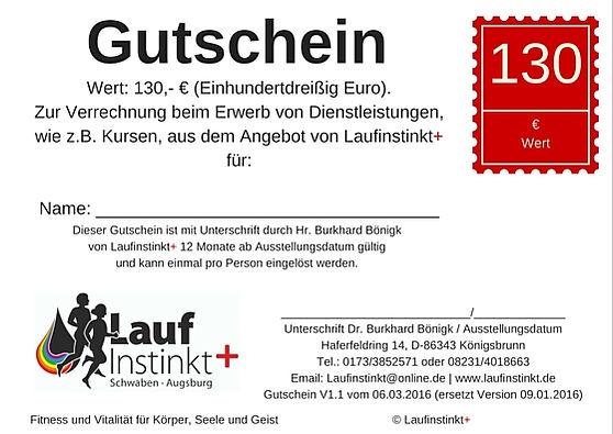 Laufinstinkt+ Schwaben Augsburg - Gutschein