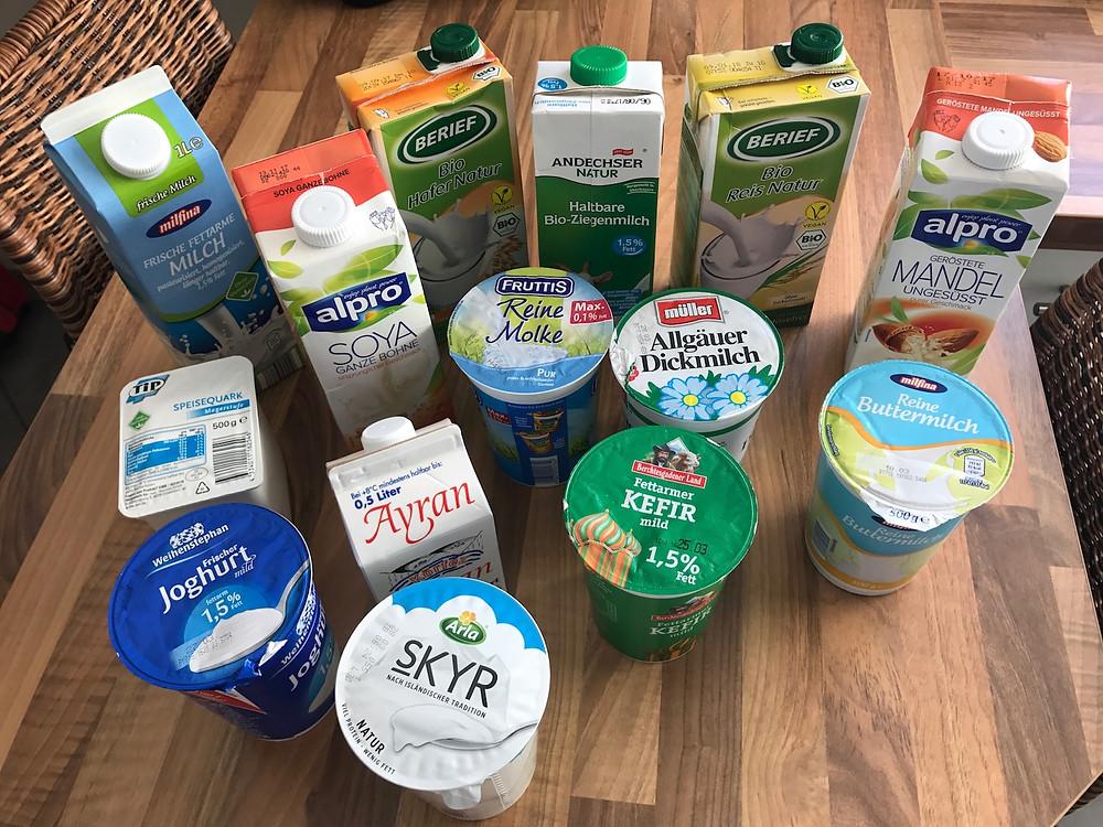 Laufinstinkt+® Schwaben Augsburg - Milch und Milchprodukte im Vergleich ihrer Inhaltsstoffe - Bild 1