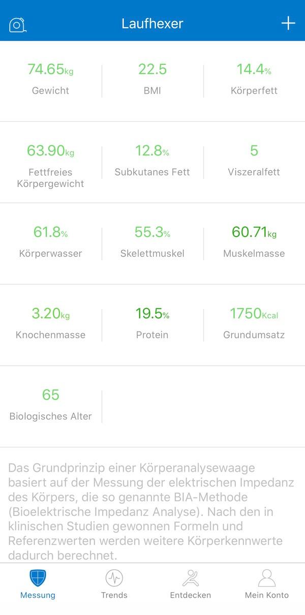 Körperkompartimentwaagenprotokoll | © Laufinstinkt+®