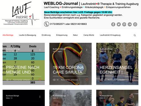 NEUES WEBLOG-JOURNAL | Laufinstinkt+® Augsburg