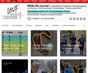Laufinstinkt.de Neuer Auftritt des WEBLOG-Journals