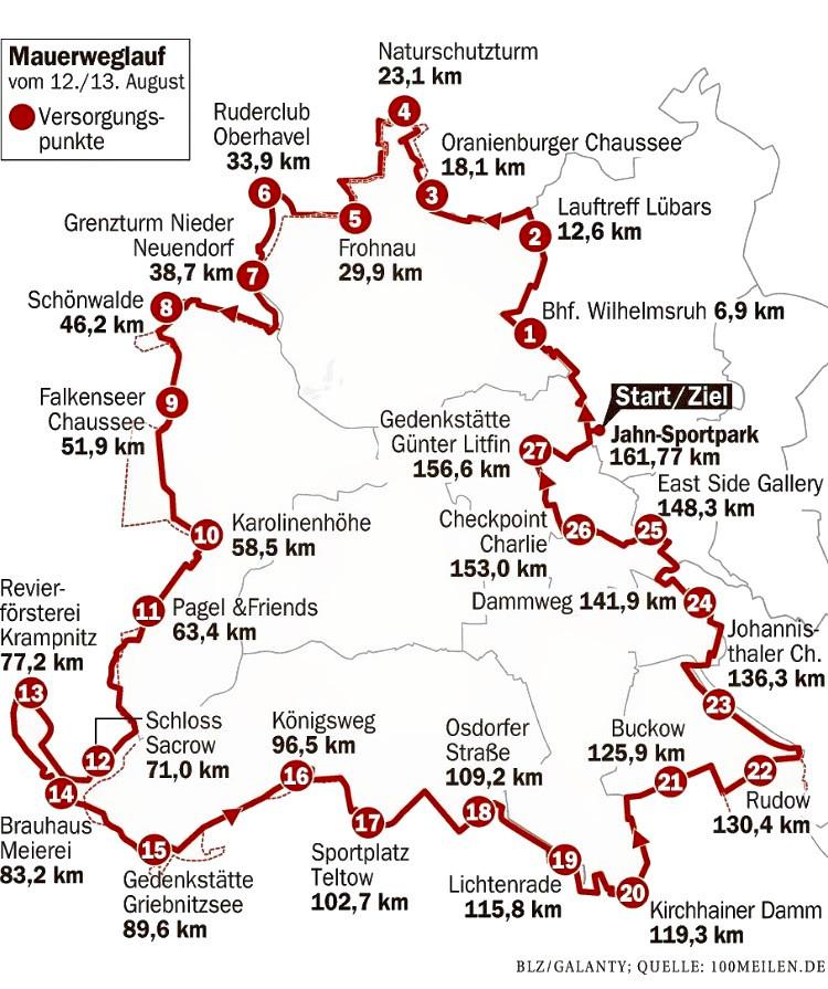Laufinstinkt+® Schwaben Augsburg - Mauerweglauf Streckenführung