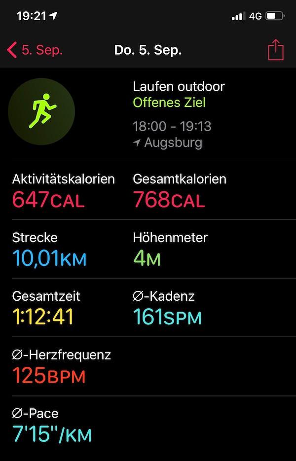 Laufinstinkt.de - Fortschritt - Laufprotokoll