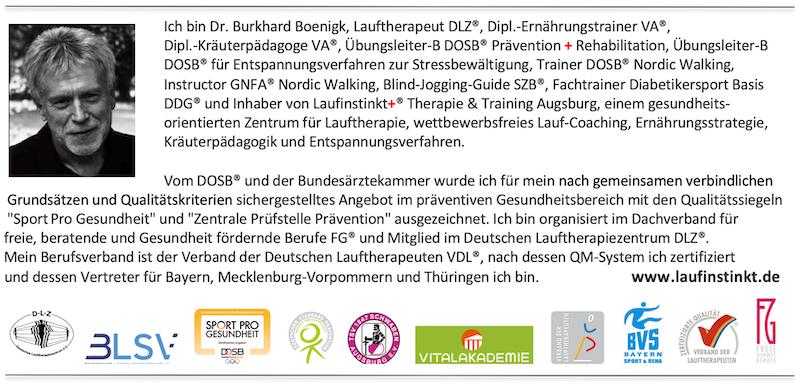 Laufinstinkt+® Therapie & Training Augsburg stellt sich vor.