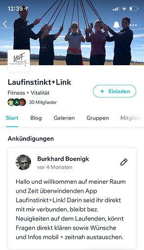 Laufinstinkt.de die App Laufinstinkt+Lin