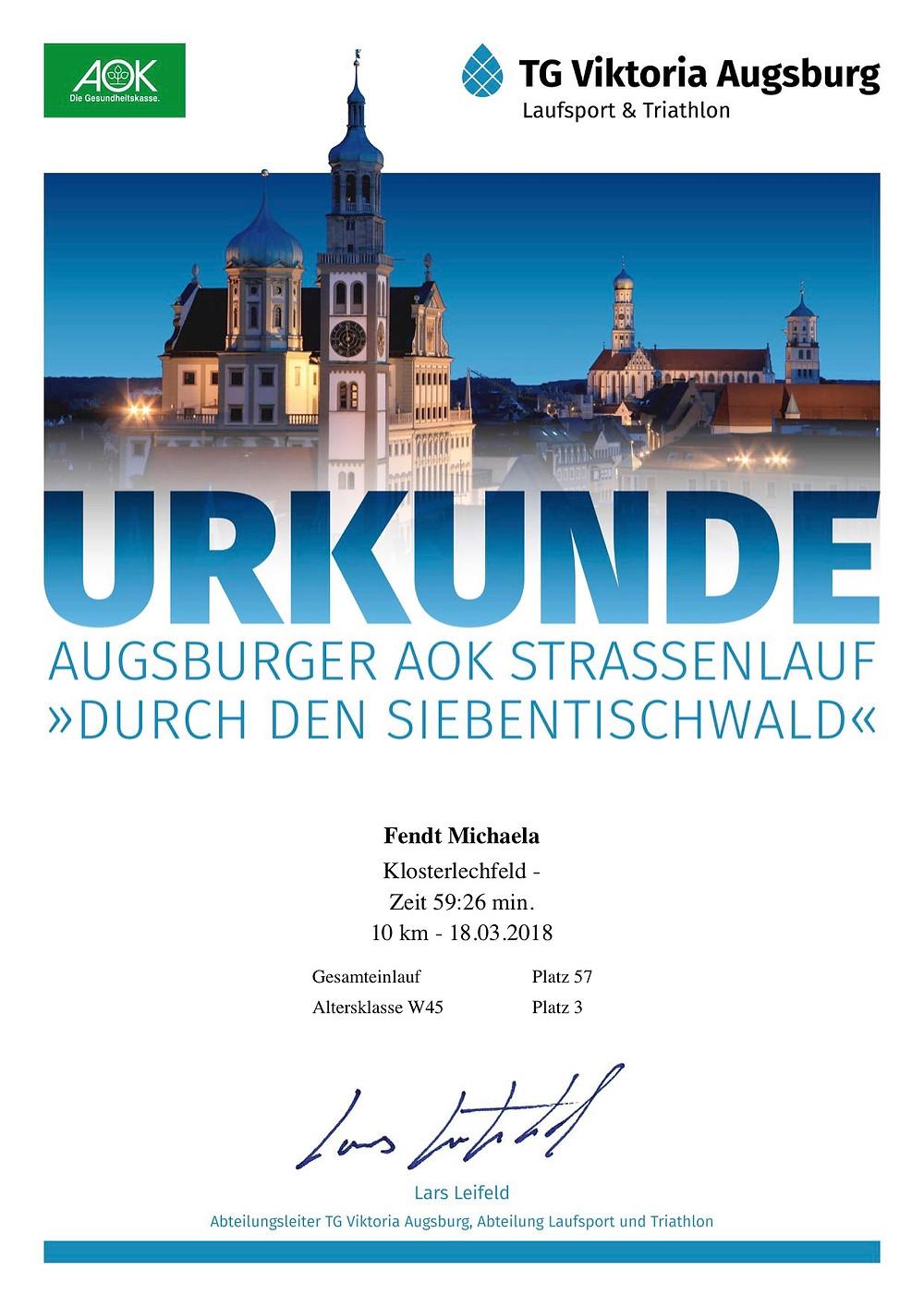 Laufinstinkt+ Augsburg - MEIN ERSTES 10KM-RENNEN - Wettkampftaufe - Bild 3