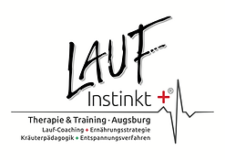 Logo Laufinstinkt+® Therapie & Training   Augsburg