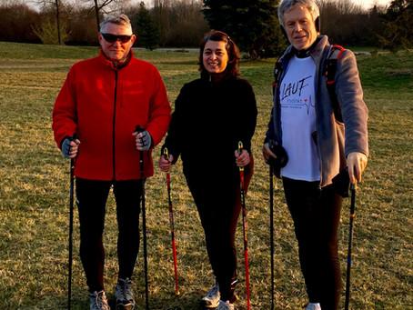 Nordic Walking Impressionen März 2016 | Lauftherapie, Laufkurse, Lauftraining