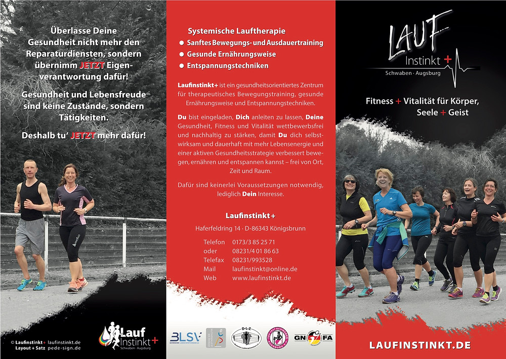 Laufinstinkt+ Schwaben Augsburg Prospekt   Information   Angebot Kurse und Seminare B
