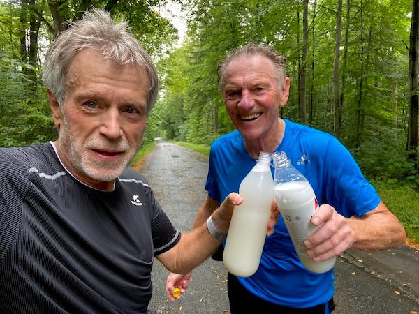 """G.H. und Trainer beim zweiten """"LLL"""" für den 30km Laufinstinkt+®-Marathon."""