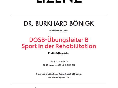 B-LIZENZ DOSB ÜBUNGSLEITER REHA-SPORT | Lauftherapie, Lauftraining, Bewegungstherapie