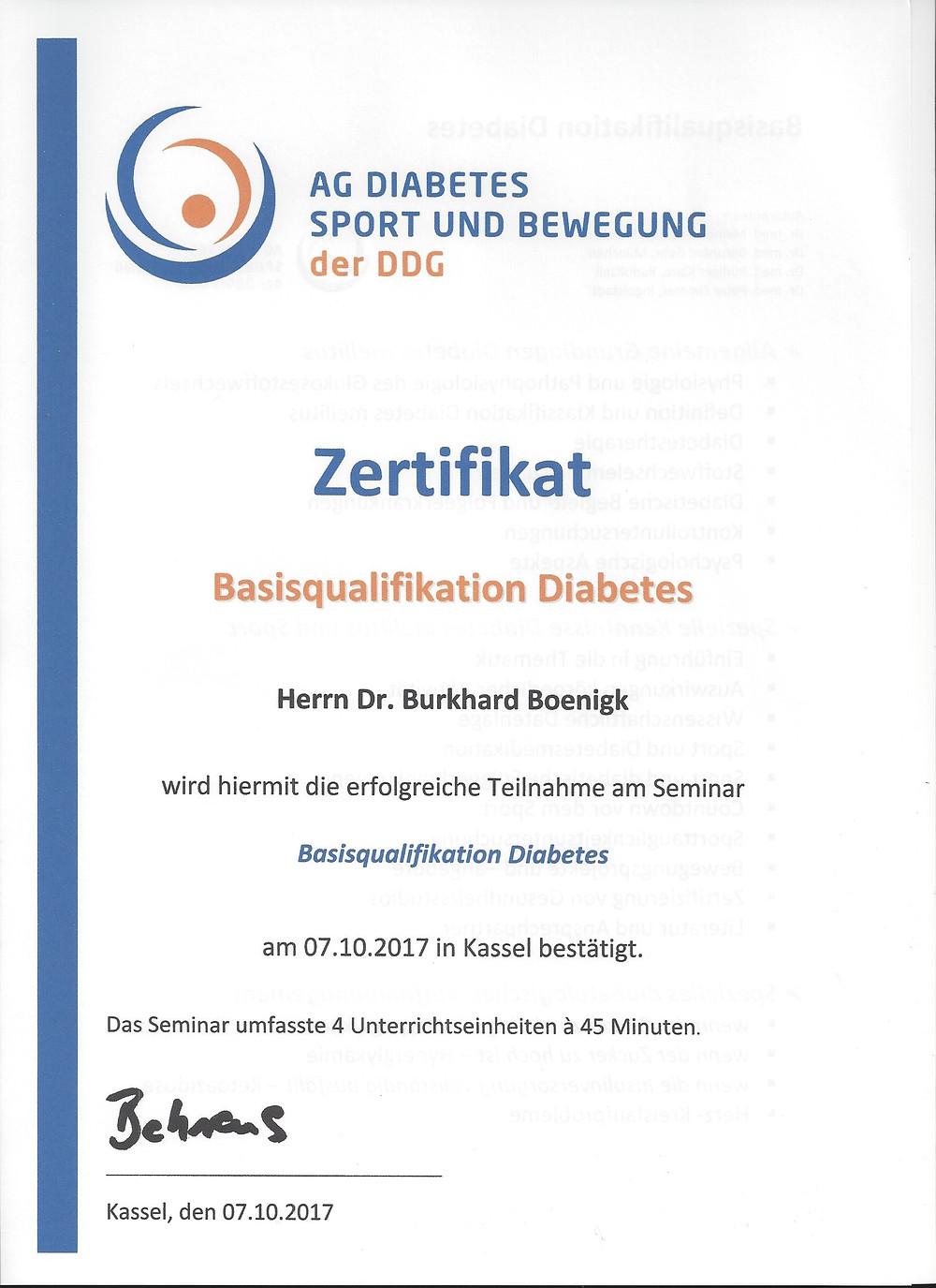 Laufinstinkt+® Schwaben Augsburg - Zertifikat Fachtrainer Diabetikersport - Basis