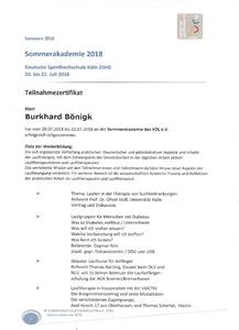 Burkhard Boenigk - Teilnahmebestätigung VDL Sommerakademie 2018 Bild 1