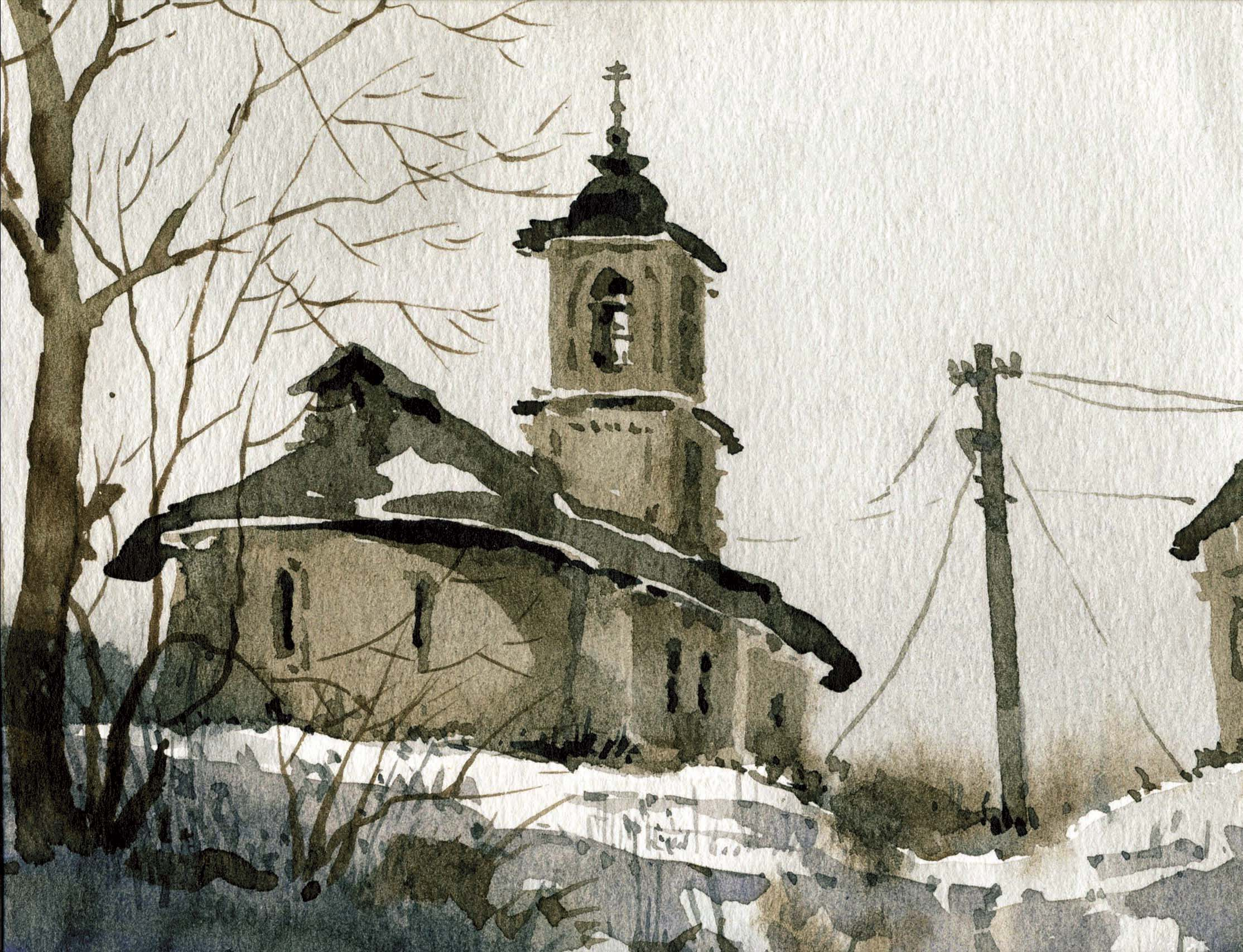 Храмы 68 (Акварель/Watercolor)