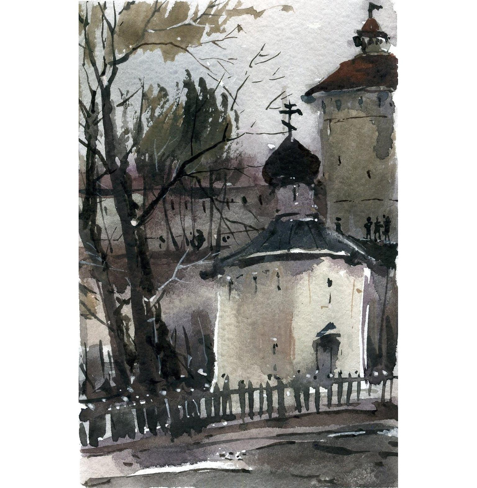 Храмы 75 (Акварель/Watercolor)