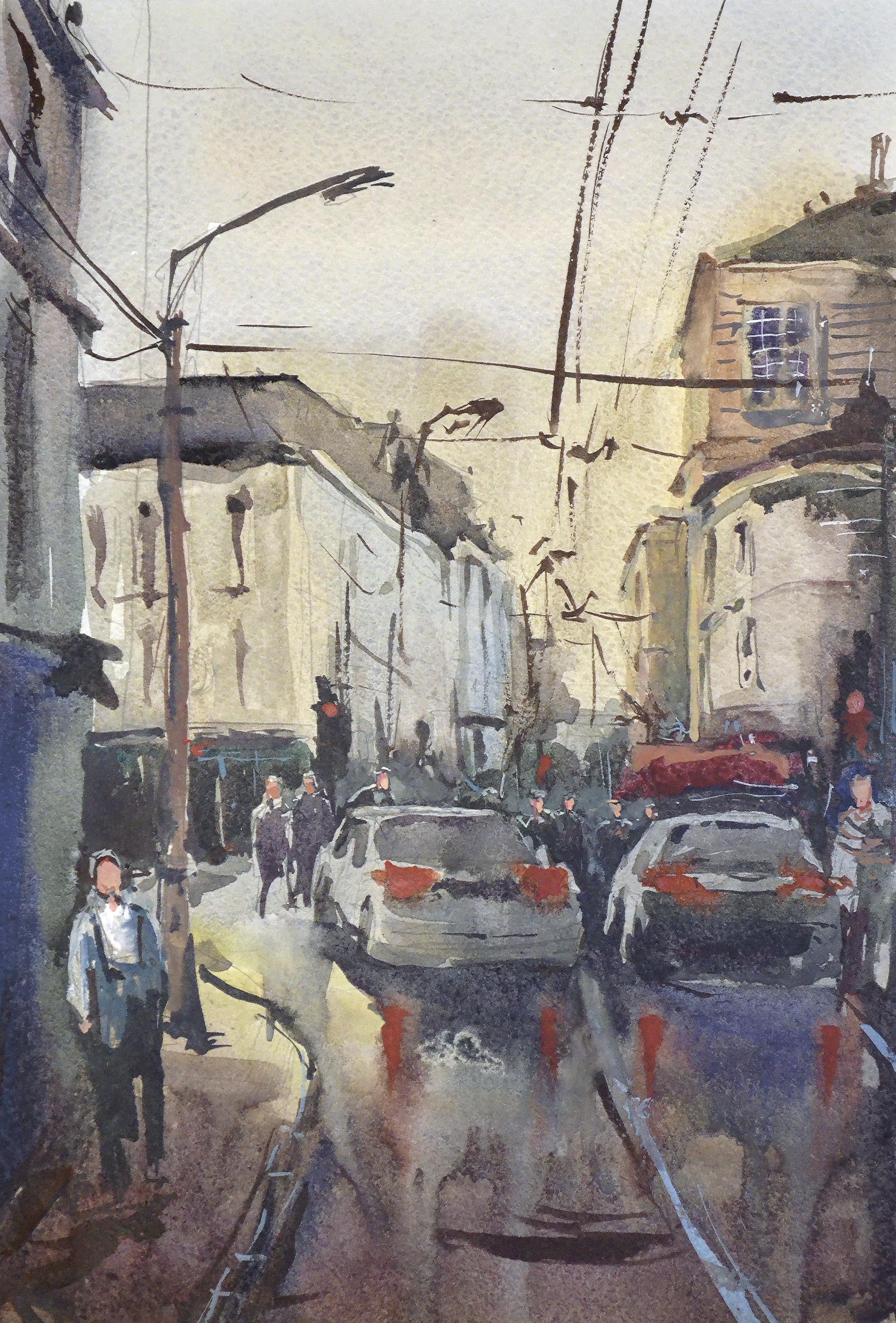 Город 4 (Акварель/Watercolor)