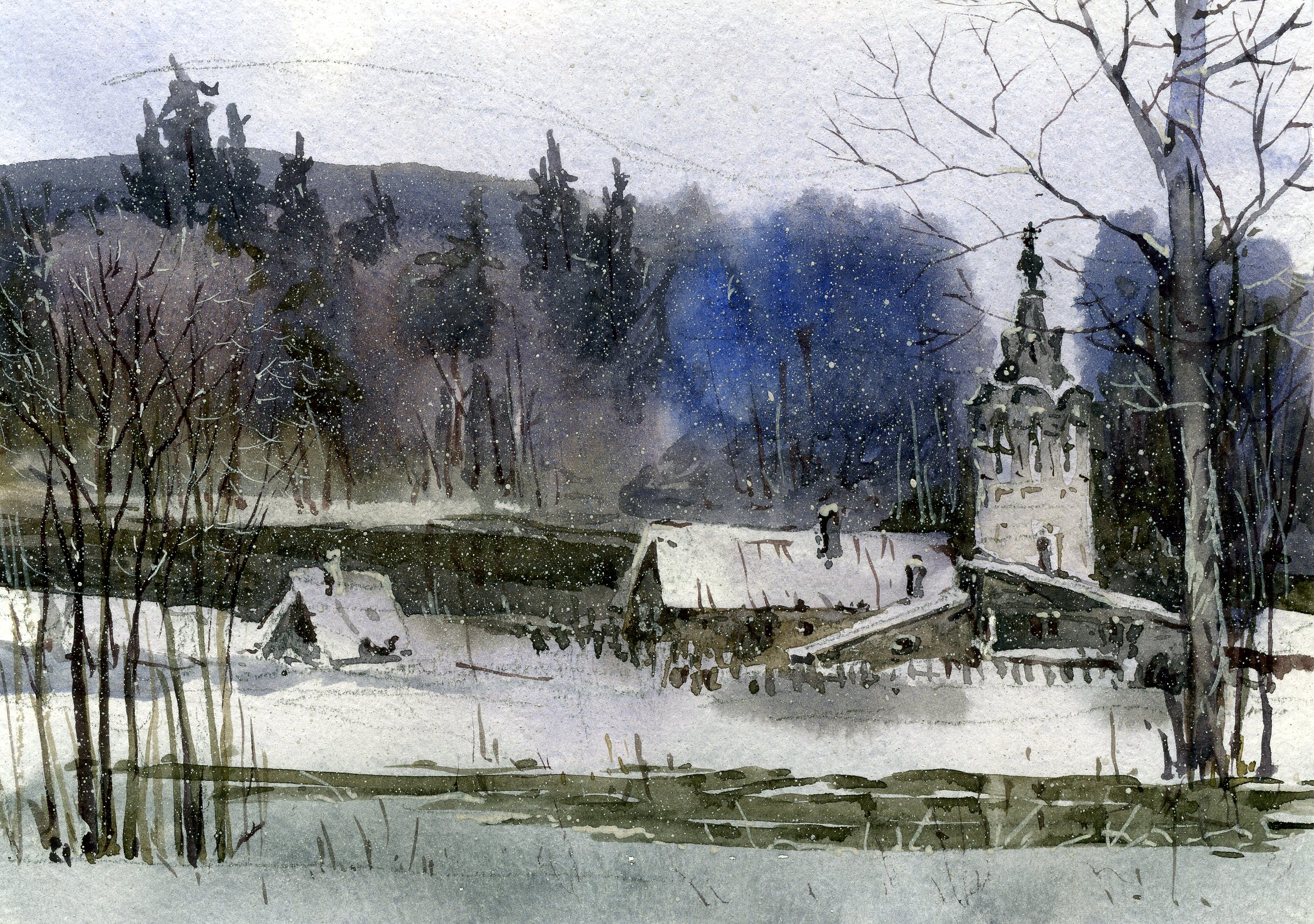 Храмы 59 (Акварель/Watercolor)