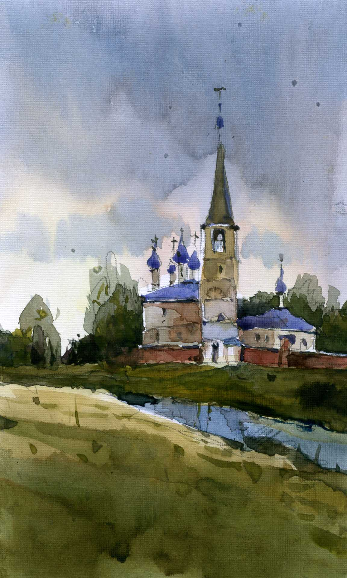 Храмы 34 (Акварель/Watercolor)