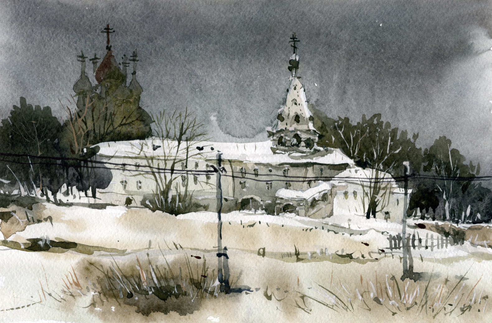 Храмы 76 (Акварель/Watercolor)